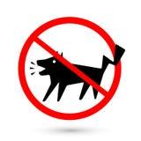 Cães proibidos símbolo que descascam, nenhum descascamento Foto de Stock Royalty Free