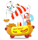 Cães quentes! Isolado Fotografia de Stock Royalty Free