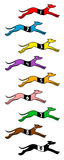 Cães rápidos Fotografia de Stock Royalty Free