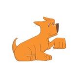 Cão alaranjado ícone isolado Fotos de Stock