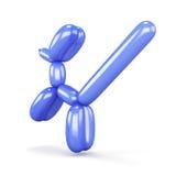 Cão azul do balão isolado no fundo branco rendição 3d Foto de Stock