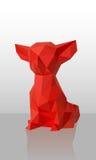 Cão Baixo-poli vermelho do vetor Foto de Stock Royalty Free