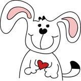 Cão bonito dos desenhos animados Fotografia de Stock Royalty Free