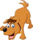 Cão bonito dos desenhos animados Foto de Stock