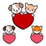 Cão Cat Icon dos desenhos animados Foto de Stock Royalty Free