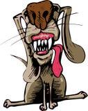 Cão com língua e os dentes grandes Imagens de Stock Royalty Free