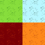 Cão com o osso colorido sem emenda Fotografia de Stock