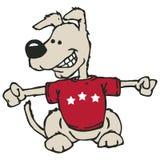 Cão com trajeto de grampeamento Foto de Stock Royalty Free