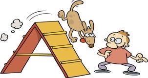 Cão da agilidade ilustração stock