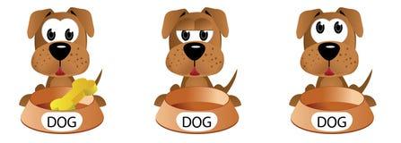 Cão da expressão dos desenhos animados fotografia de stock