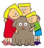 Cão da família ilustração royalty free