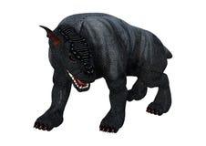 cão da gárgula da rendição 3D no branco Imagem de Stock Royalty Free