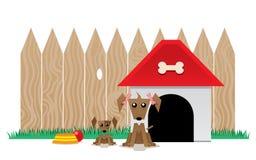 Cão da mãe e seu cachorrinho ilustração stock