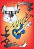Cão da música Fotografia de Stock Royalty Free