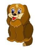Cão de assento dos desenhos animados Imagens de Stock Royalty Free