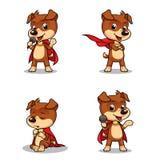 Cão de cachorrinho 01 do super-herói Imagem de Stock Royalty Free