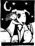 Cão de Huggy ilustração stock