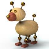 Cão de madeira 3d rendido Fotografia de Stock