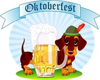 Cão de Oktoberfest foto de stock royalty free