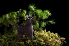 Cão de Origami Foto de Stock Royalty Free