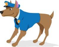 Cão de polícia ilustração royalty free
