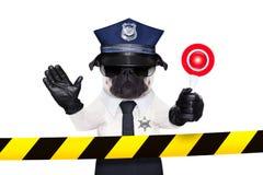 Cão de polícia Fotografia de Stock
