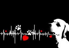 Cão do amor ilustração royalty free