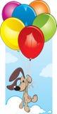 Cão do balão dos desenhos animados ilustração stock