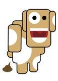 Cão do Blockhead Foto de Stock Royalty Free