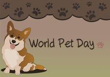 Cão do dia do animal de estimação do mundo ilustração royalty free