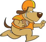 Cão do futebol ilustração do vetor