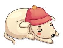 Cão do inverno Ilustração Royalty Free