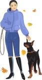 cão do outono Imagens de Stock