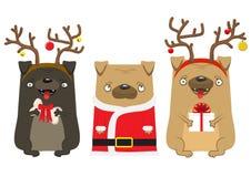 Cão do ` s do ano novo feliz Símbolo do ano 2018 ilustração stock