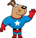 Cão do super-herói Fotografia de Stock