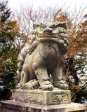 Cão do templo, montagem Hiei, Shiga, Japão Imagens de Stock Royalty Free