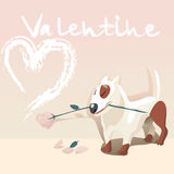 Cão do Valentim Imagens de Stock