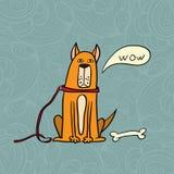 Cão do vetor ilustração royalty free