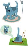 Cão dos desenhos animados ilustração royalty free