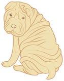 Cão dos desenhos animados Imagem de Stock