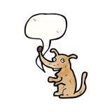cão dos desenhos animados com bolha do discurso Fotos de Stock Royalty Free