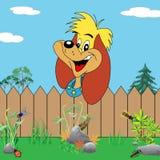 Cão dos desenhos animados com face bonito Fotos de Stock Royalty Free