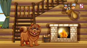 Cão e chaminé Fotografia de Stock