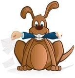 Cão e o correio Fotografia de Stock Royalty Free