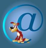 Cão e o Internet Imagens de Stock