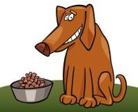 Cão e sua forragem Fotografia de Stock Royalty Free