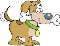 Cão e um osso ilustração royalty free