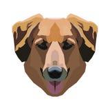 Cão em um fundo branco Vetor Imagem de Stock