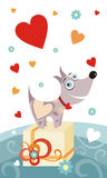 Cão engraçado ilustração stock
