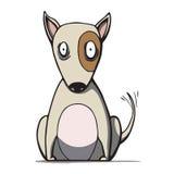 Cão engraçado de bull terrier dos desenhos animados. Vetor Imagens de Stock Royalty Free